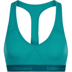 Icebreaker Sprite Racerback Bra Dame arctic teal/kingfisher